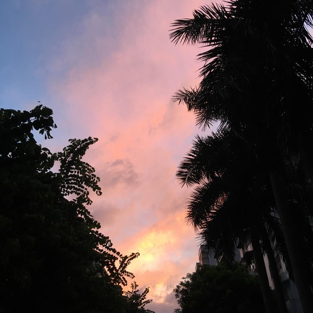 映红整个天空
