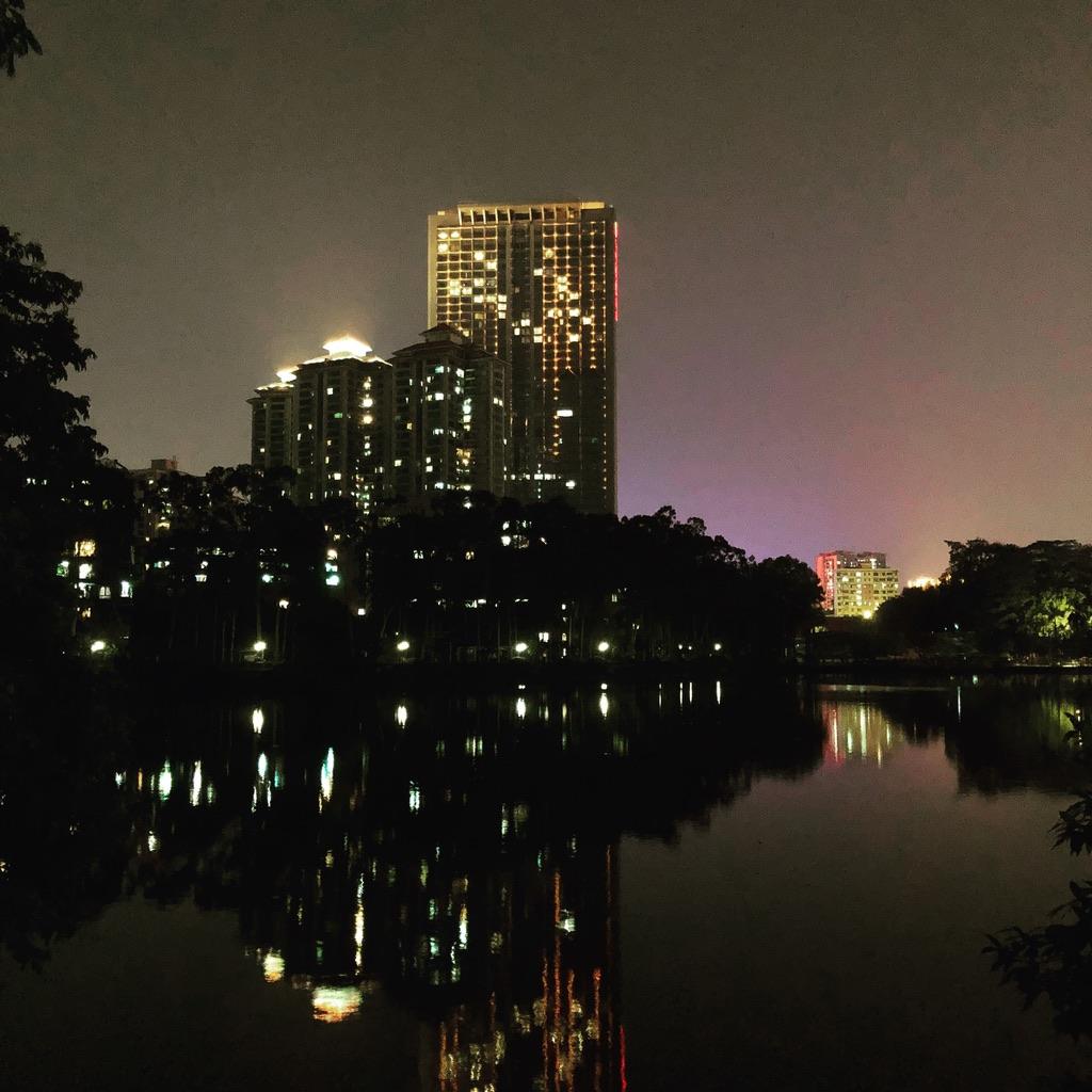 天河公园夜色